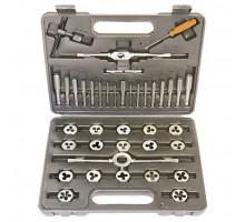 Набор метчиков и плашек М3 - М12, плашко-метчикодержатель, 40 предметов, в пласт. боксе// SPARTA